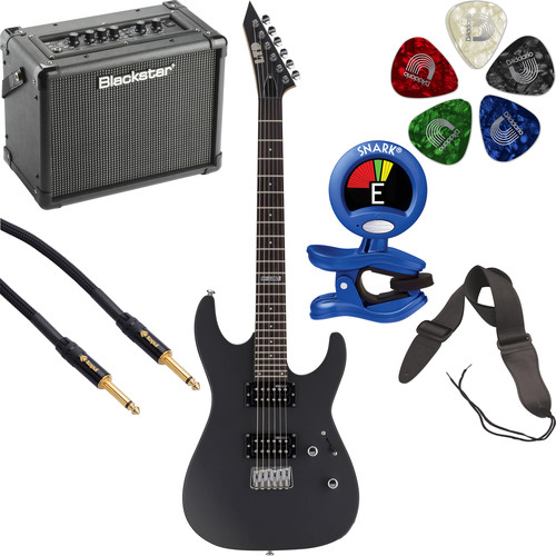 ESP LTD M-50NT Electric Guitar Starter Kit (Black Satin)
