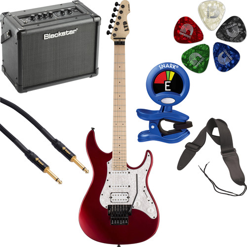 ESP LTD SN-200FR Electric Guitar Starter Kit (Black Cherry Metallic Satin)