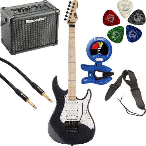 ESP LTD SN-200FR Electric Guitar Starter Kit (Charcoal Metallic)