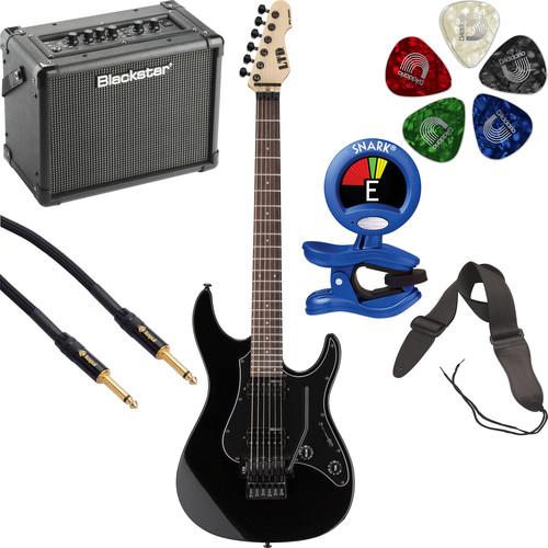 ESP LTD SN-200FR Electric Guitar Starter Kit (Black)