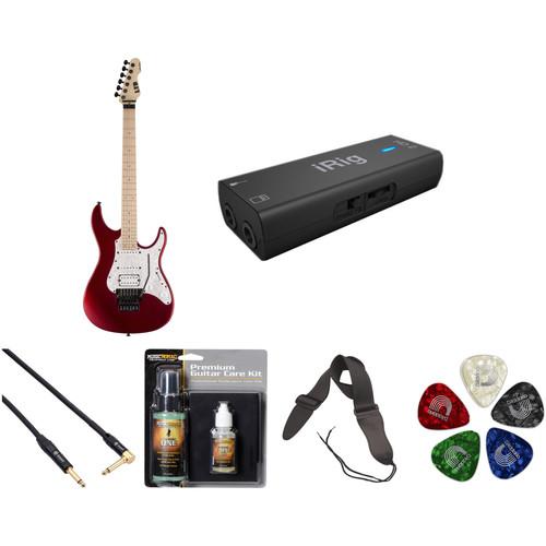 ESP LTD SN-200FR Electric Guitar Home Recording Starter Kit (Black Cherry Metallic Satin)