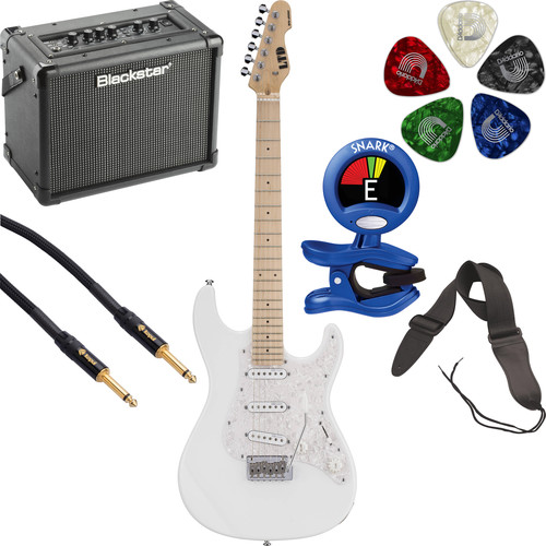 ESP LTD SN-200W Electric Guitar Starter Kit (Snow White)