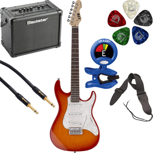 ESP LTD SN-200W Electric Guitar Starter Kit (Copper Sunburst)