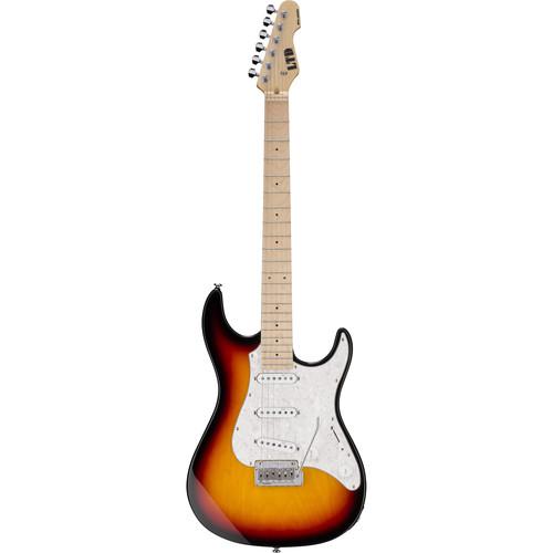 ESP LTD SN-200W Electric Guitar Home Recording Starter Kit (3-Tone Burst)