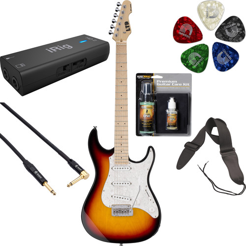 ESP LTD SN-200W Electric Guitar Home Recording Starter Kit (3-Tone Burst)