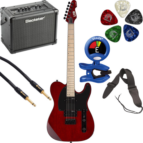 ESP LTD TE-200 Electric Guitar Starter Kit (See-Thru Black Cherry)