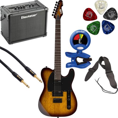 ESP LTD TE-200 Electric Guitar Starter Kit (Tobacco Sunburst)