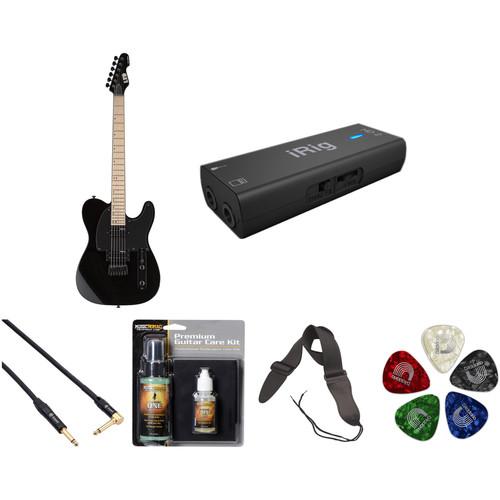 ESP LTD TE-200 Electric Guitar Home Recording Starter Kit (Black)