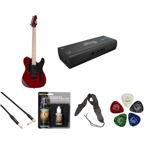 ESP LTD TE-200 Electric Guitar Home Recording Starter Kit (See-Thru Black Cherry)