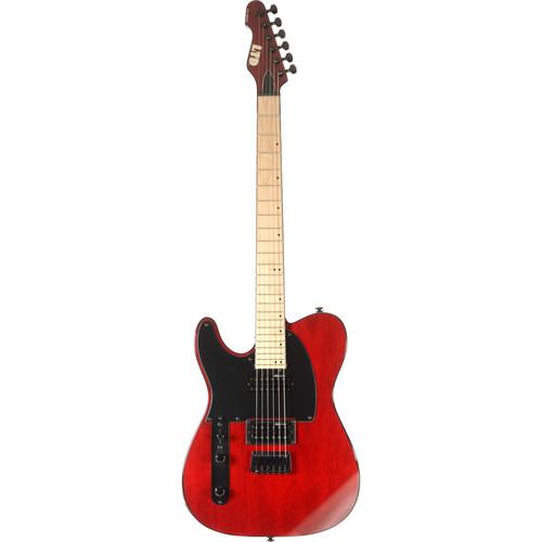 ESP LTD TE-200 Electric Guitar (Left-Handed, See-Thru Black Cherry)