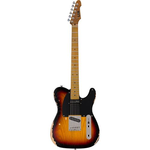 ESP LTD TE-254 Electric Guitar (Distressed 3-Tone Burst)