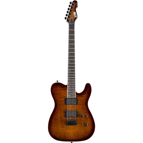 ESP LTD TE-401FM Electric Guitar (Dark Brown Sunburst)