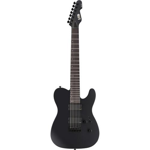 ESP LTD TE-417 7-String Electric Guitar (Black Satin)