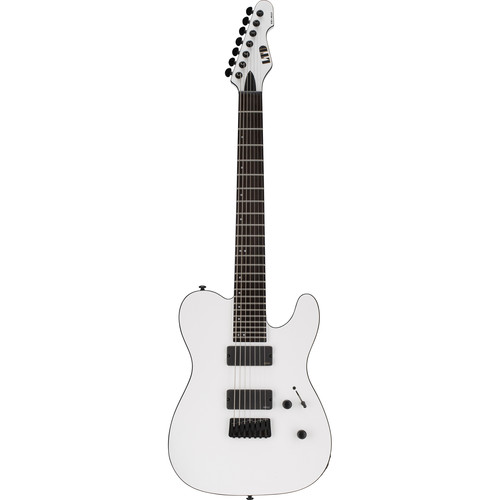 ESP LTD TE-417 7-String Electric Guitar (Snow White Satin)