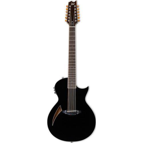 ESP LTD Thinline Series TL-12 12-String Acoustic/Electric Guitar (Black)