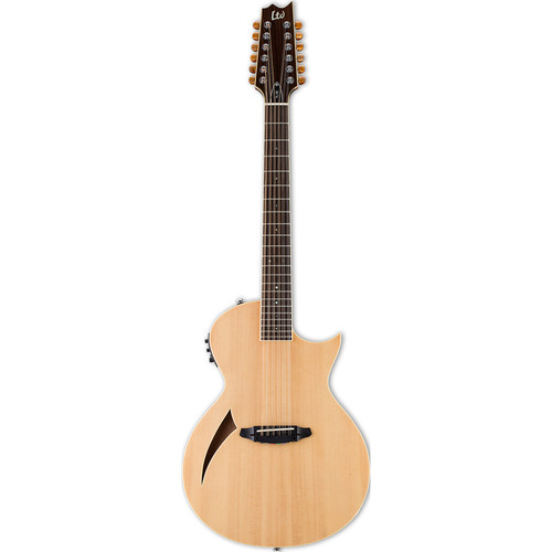 ESP LTD Thinline Series TL-12 12-String Acoustic/Electric Guitar (Natural Gloss)