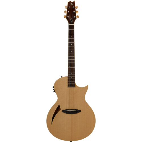 ESP LTD Thinline Series TL-6 Acoustic/Electric Guitar (Natural Gloss)