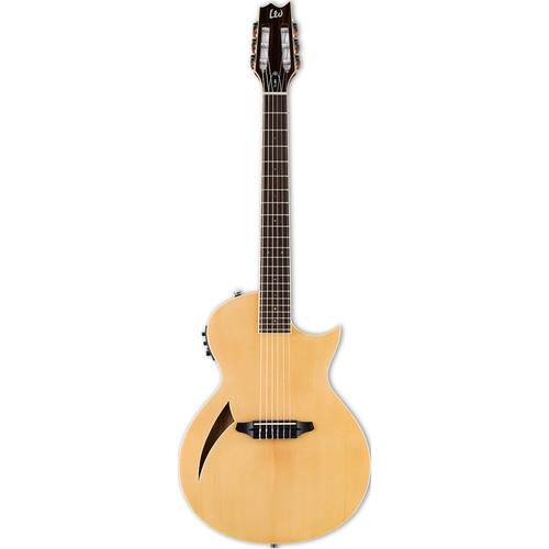 ESP LTD Thinline Series TL-6N Nylon-String Acoustic/Electric Guitar (Natural Gloss)