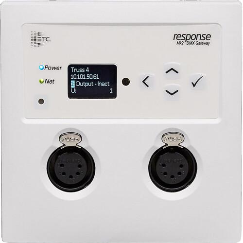 ETC Response MK2 2-Port Wall-Mount Gateway XLR Output - White