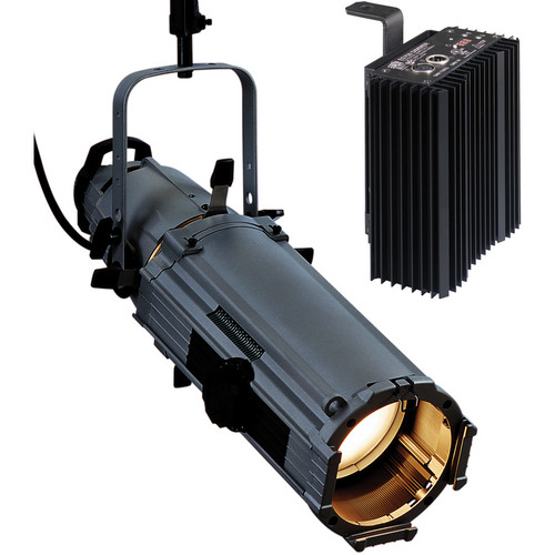 ETC Source Four Zoom 15-30 Ellipsoidal Lighting Fixture with Dimmer (Stage Pin Connector, Black)