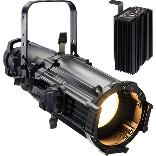 ETC Source Four Ellipsoidal Lighting Fixture with Dimmer (25-50 Zoom, Stage Pin Connector, White)