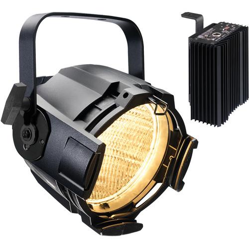 ETC Source Four PAR Enhanced Aluminum with Dimmer (Bare Power Lead, Black)