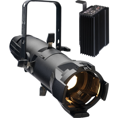 ETC Source Four Jr Zoom 25 to 50° Ellipsoidal Lighting Fixture with Dimmer (Bare Power Lead, White)