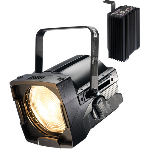 """ETC 7"""" Source Four Fresnel with Dimmer (Bare Power Lead, Black)"""