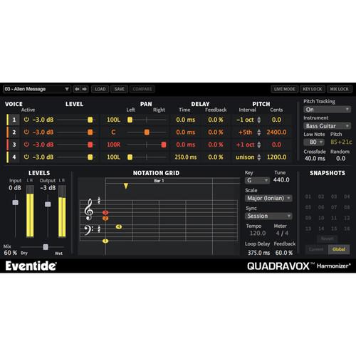 Eventide Quadravox Harmonizer Plug-In (Download)