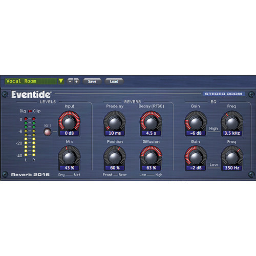 Eventide 2016 Stereo Room - Native Reverb Plug-In (Crossgrade)