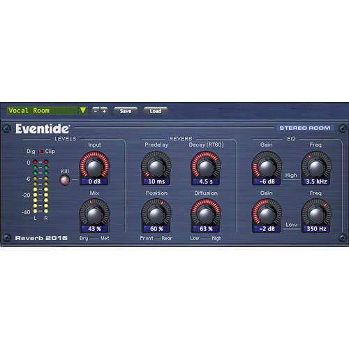 Eventide 2016 Stereo Room - Native Reverb Plug-In (Crossgrade)