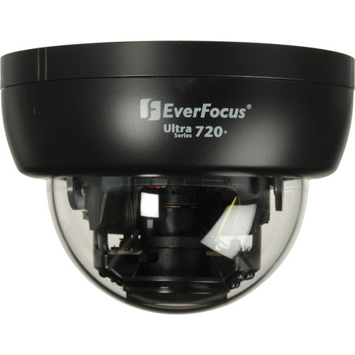 EverFocus Ultra 720+ TVL Indoor True Day/Night IR Mini Dome Camera (Black, NTSC)
