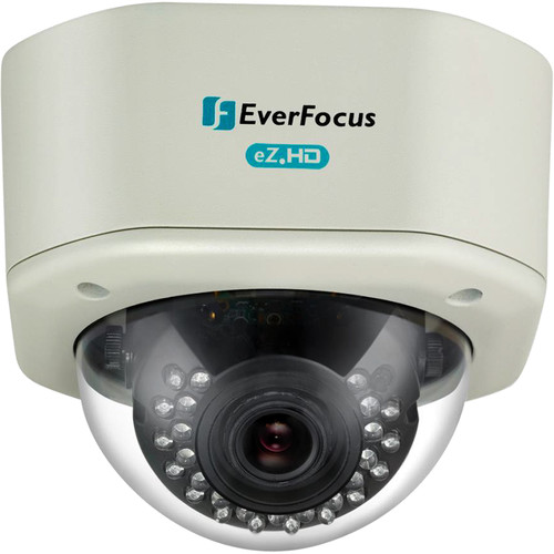 EverFocus eZ.HD Series 720p Analog HD True Day/Night Outdoor IR Vandal Dome Camera