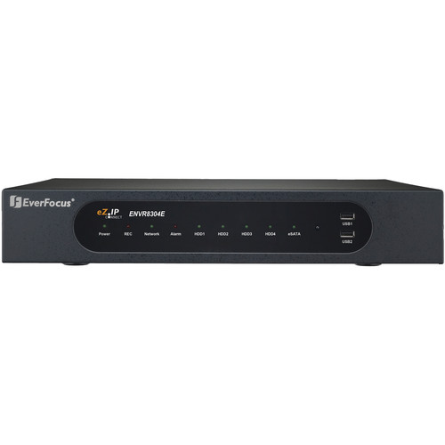 EverFocus ENVR8304E 8-Channel Plug & Play NVR with Embedded 8-Channel PoE Switch (2TB)