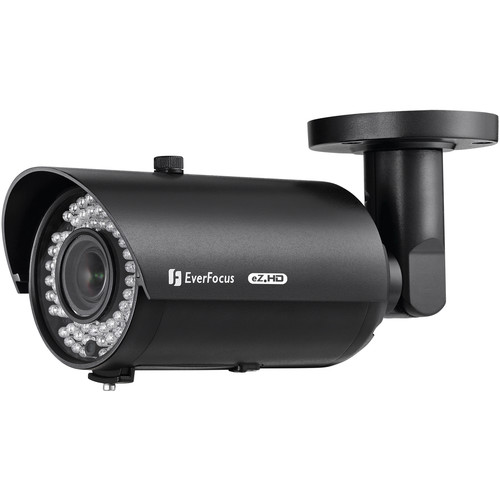 EverFocus EZ930F 1080p Full HD True Day/Night Outdoor IR Bullet Camera with 2.8 to 12mm Varifocal Lens (Black)