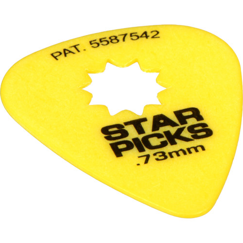 EVERLY Star Pick 12-Pack of Guitar Picks (.73mm, Yellow)