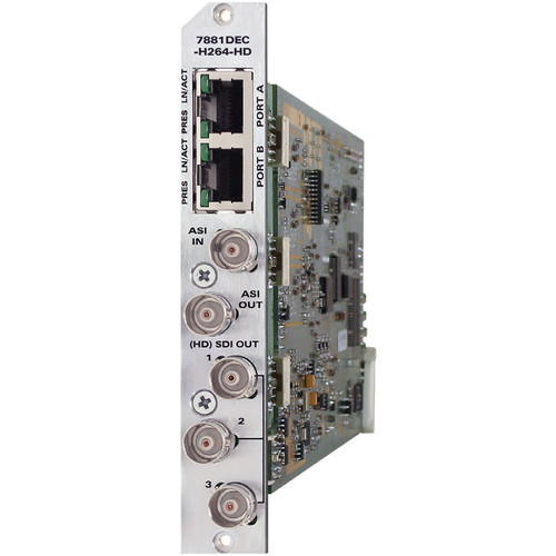 Evertz Microsystems 7881DEC-H264HD H.264/AVC Decoder (3RU Back Plate)