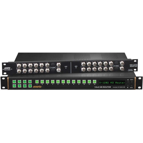 Evertz Microsystems X-Series 12x2 HD/SD SDI Video Router with Bypass Relay & SoftSwitch Capability