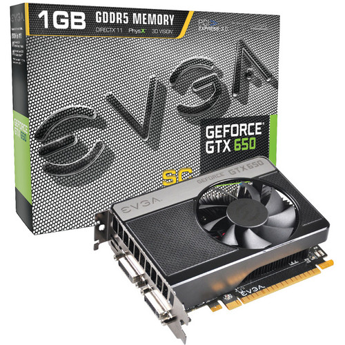 EVGA GeForce GTX 650 1GB GDDR5 Superclocked Graphics Card