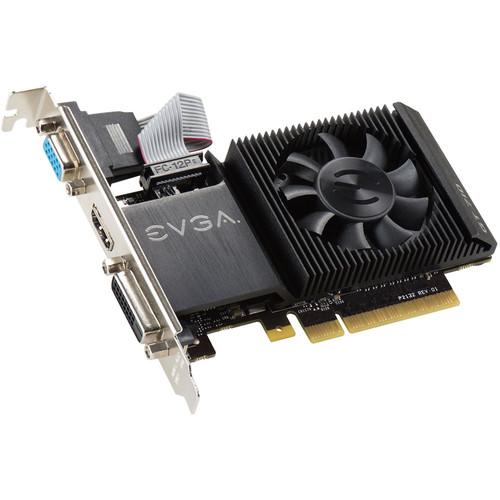 Tarjeta gráfica EVGA GeForce GT 710 de una sola ranura y perfil bajo