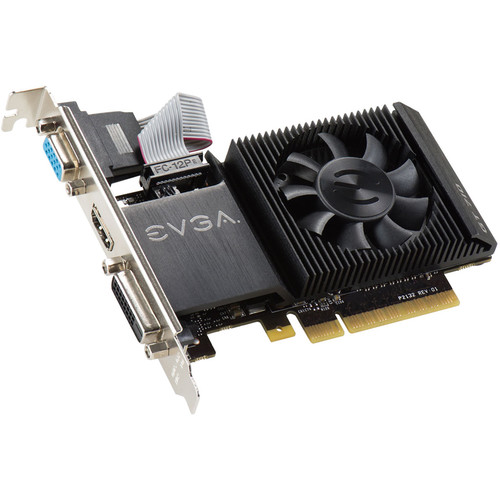 EVGA GeForce GT 710 Single-Slot Low-Profile Graphics Card