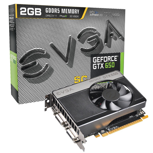 EVGA GeForce GTX 650 Superclocked 2GB Graphics Card