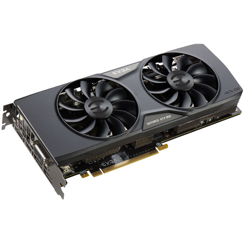 EVGA GeForce GTX 950 FTW Graphics Card with Back Plate