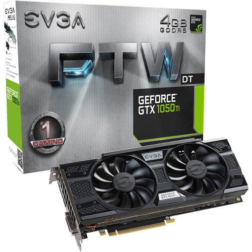 EVGA GeForce GTX 1050 Ti FTW DT GAMING 4GB Video Card