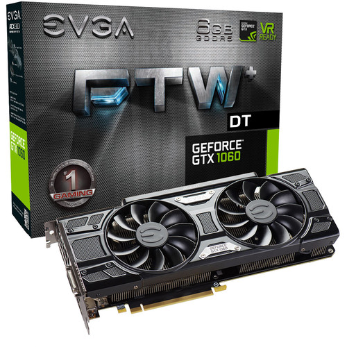 EVGA GeForce GTX 1060 FTW+ DT GAMING Graphics Card