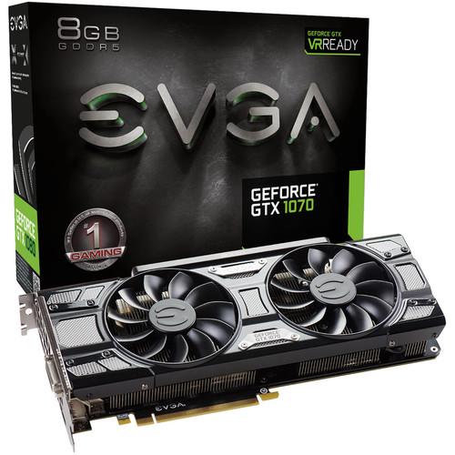 EVGA GeForce GTX 1070 GAMING ACX 3.0 Black Edition Graphics Card