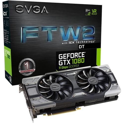 EVGA GeForce GTX 1080 FTW2 DT GAMING Graphics Card