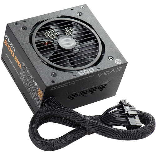 EVGA 500 BQ 500W 80 Plus Bronze Semi-Modular Power Supply