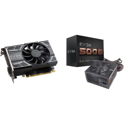 EVGA GeForce GTX 1050 Ti GAMING Graphics Card & 500B 500W 80 Plus Bronze Power Supply Kit