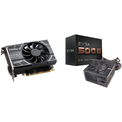 EVGA GeForce GTX 1050 Ti SC GAMING Graphics Card & 500B 500W 80 Plus Bronze Power Supply Kit
